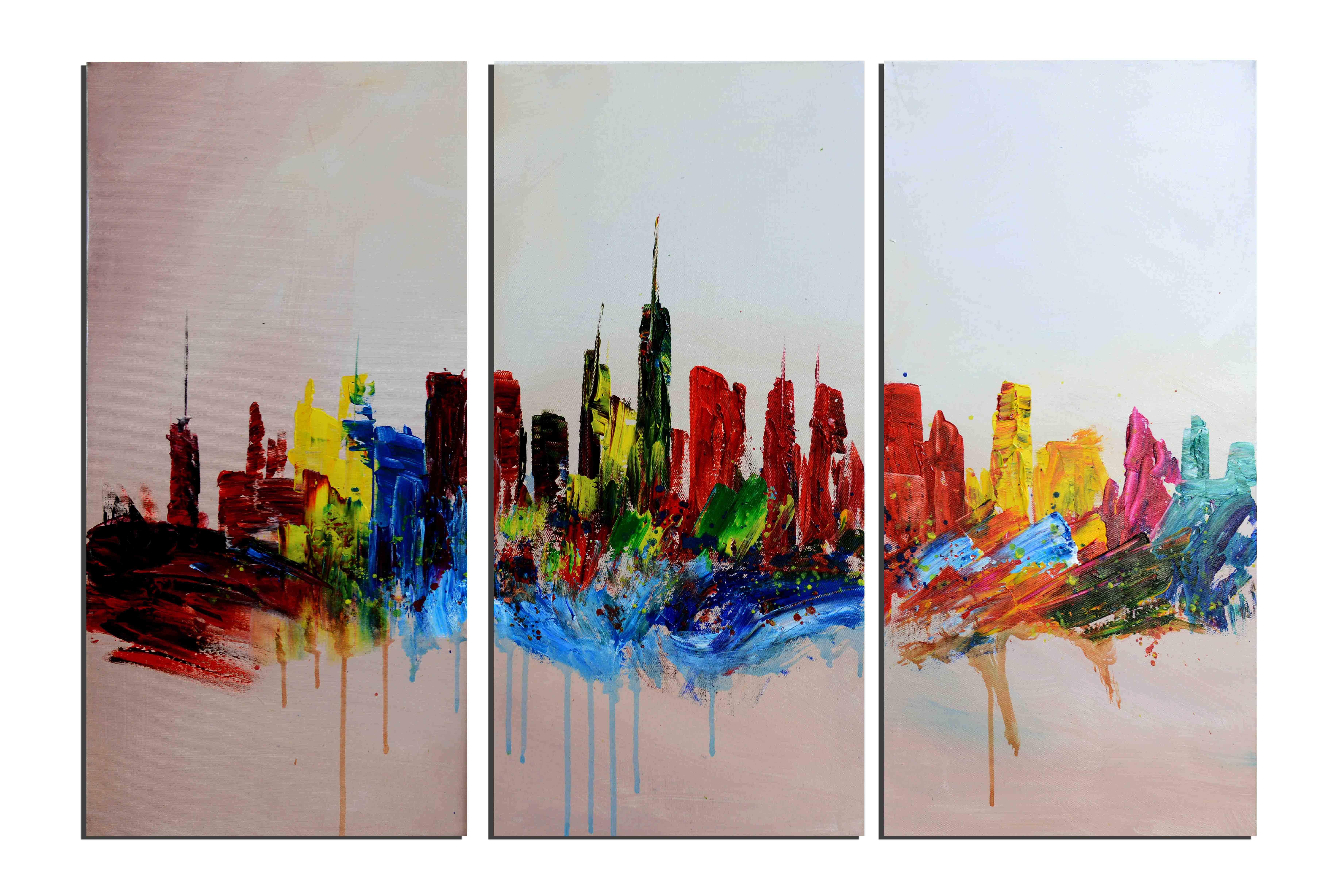 Peinture tableaux ville rues des tableaux