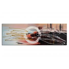 Impression au soleil levant - tableau peint-main peinture à l'huile