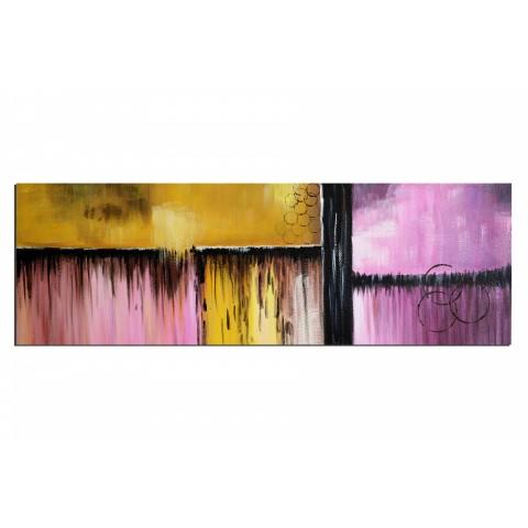 Orage derrière les vitres - tableau peint-main peinture à l'huile