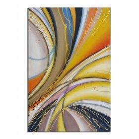 Périphérique dans la nuit - tableau peint-main peinture à l'huile