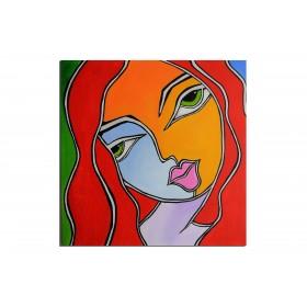 Embrassez qui vous voulez - tableau peint-main peinture à l'huile