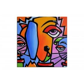 Michka - tableau peint-main peinture à l'huile