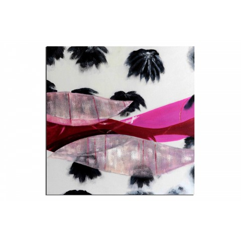 Hamac sous les palmiers - tableau peint-main peinture à l'huile