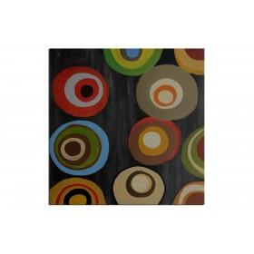 Style delaunay - tableau peint-main peinture à l'huile