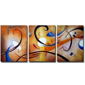 Envollée de plumes - tableau peint-main peinture à l'huile