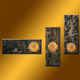 Puits d'or - tableau peint-main peinture à l'huile