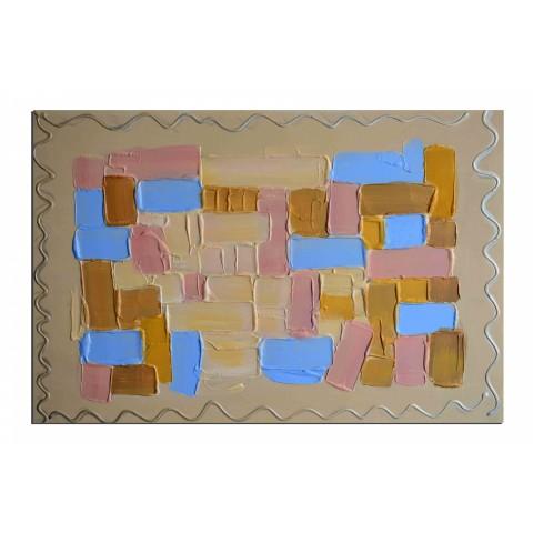 En relief - tableau peint-main peinture à l'huile