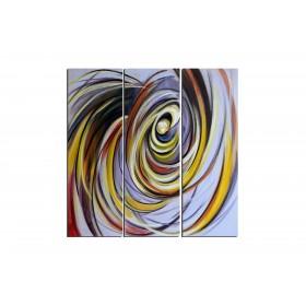 Départ du centre - tableau peint-main peinture à l'huile