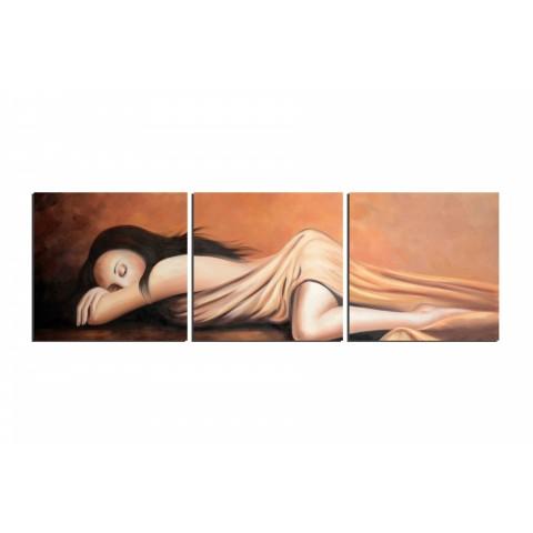 Je dors et je rêve - tableau peint-main peinture à l'huile