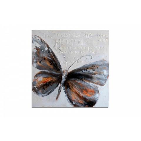 Papillon - tableau peint-main peinture à l'huile