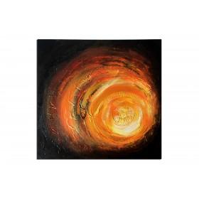 Cratère en fusion - tableau peint-main peinture à l'huile
