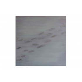 Migration des poissons - tableau peint-main peinture à l'huile