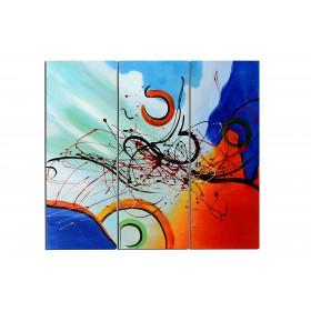 Eclaboussure de vague - tableau peint-main peinture à l'huile