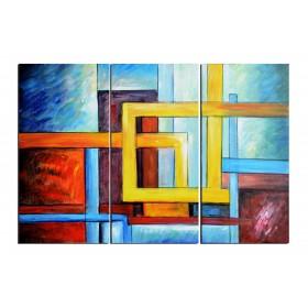 Chemins entrelacés - tableau peint-main peinture à l'huile