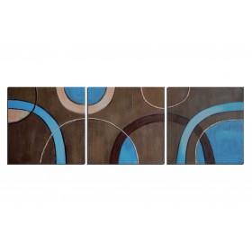 Demi-Cercles - tableau peint-main peinture à l'huile