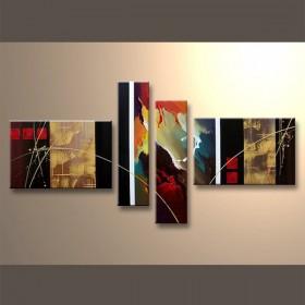 Flammes et dorures - tableau peint-main peinture à l'huile