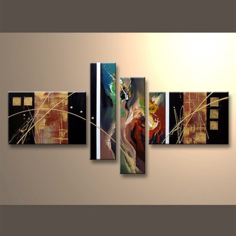 Tableaux abstrait tableau abstrait pas cher triptyque moderne