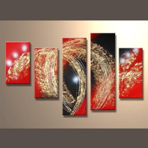 Feux d'artifices - tableau peint-main peinture à l'huile