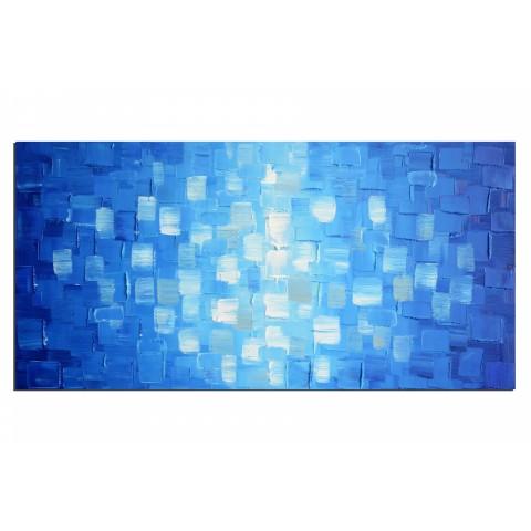 Lumière au fond de l'océan - tableau peint-main peinture à l'huile