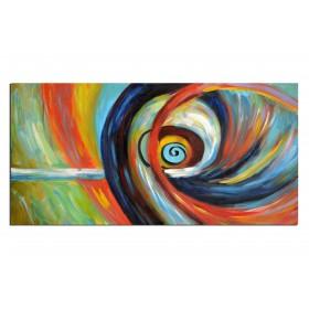 L'Oeil du cyclone - tableau peint-main peinture à l'huile