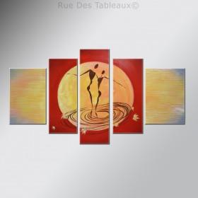 Valse au clair de lune - tableau peint-main peinture à l'huile