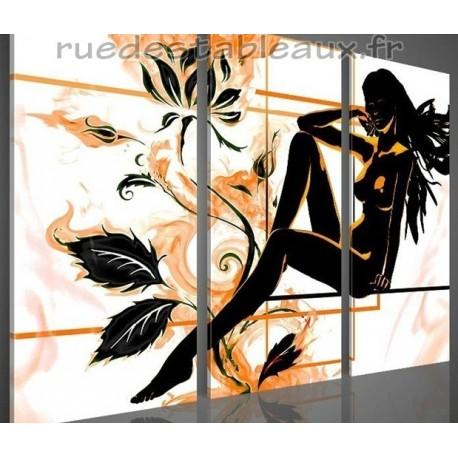 Une fleur parmi les fleurs - tableau peint-main peinture à l'huile