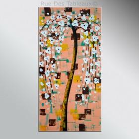 Belle du printemps - tableau peint-main peinture à l'huile