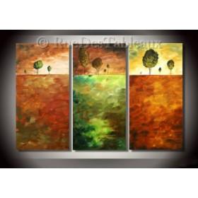 1-2-3 soleil - tableau peint-main peinture à l'huile