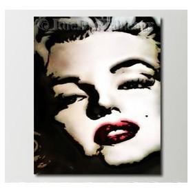 Marylin - tableau peint-main peinture à l'huile