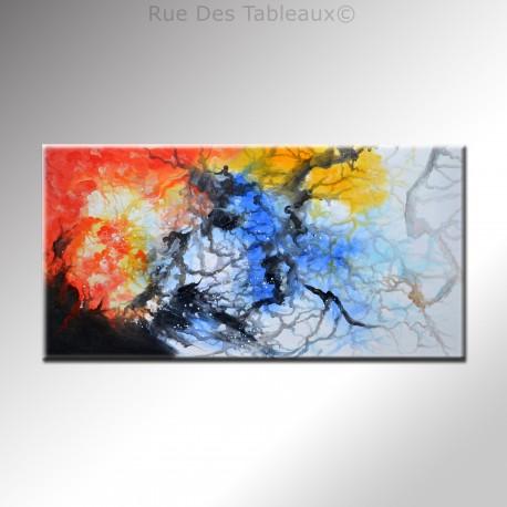 Brouillard synaptique - tableau peint-main peinture à l'huile